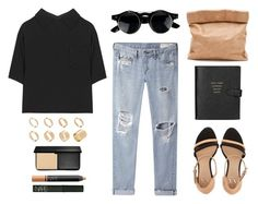 """""""Untitled #231"""" by style-dreams ❤ liked on Polyvore featuring Miu Miu, rag & bone/JEAN, Marie Turnor, Armani Exchange, Smythson, ASOS, Smashbox and NARS Cosmetics"""