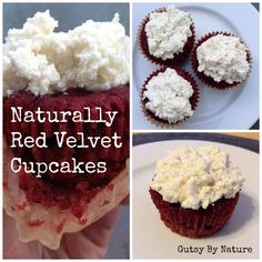 Naturally Red Velvet Cupcakes made with Coconut Flour