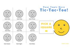 This is tic-tac-toe game template I made in Storyline It can be customized any way you'd like! More Info I made the original game for an Articulate can see the original … Tic Tac Toe Game, Instructional Design, Punctuation, Smiley, Microsoft, Clip Art, Templates, Colors, Face