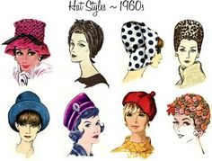 Hat styles - 1960s