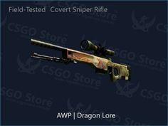 AWP Dragon Lore Skins CSGO disponível para venda na Loja CSGO Store™