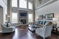 Blue Living Room with massive windows
