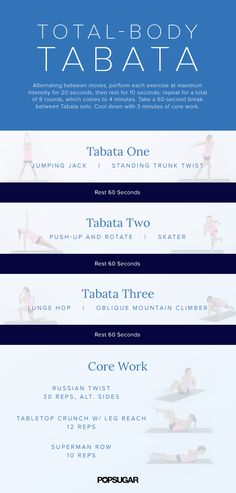 Use this 20-minute Tabata to tone up. It will totally mix up your routine and make you look and feel better.