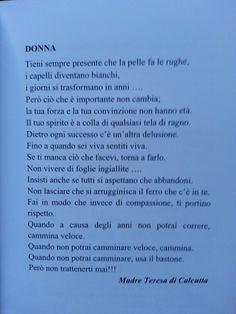 Festa della donna Wisdom, Positivity, Mamma, Words, Quotes, Life, Iphone, Ideas, Mother Teresa