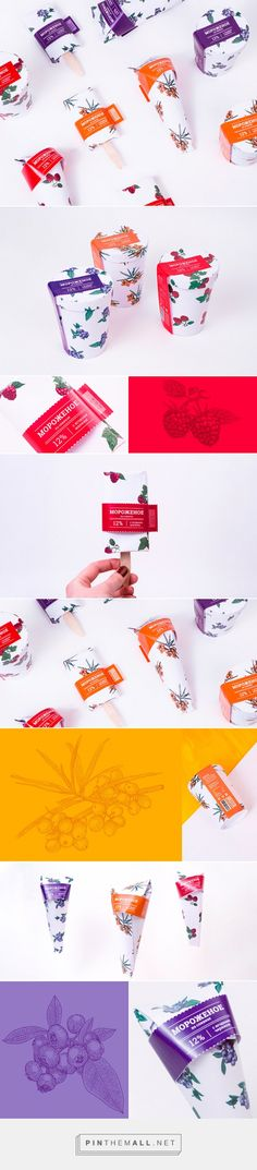 Ice Cream Packaging (concept) by Vecherya Mariaf. Source; Daily Package Design Inspiration: Pin curated by #SFields99 #packaging #design #inspiration#ideas #range #color #typography #illustration #concept #product #consumer #icecream #food #snack