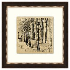 Vintage Parisian Etchings IV | A Perfect Fit | One Kings Lane