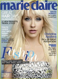 Unfug It Up: Christina Aguilera - Go Fug Yourself Marie Claire, Britney Spears, Christina Aguilera Videos, Fashion Magazine Cover, Magazine Covers, Designer Plus Size Clothing, Adele Weight, Workout Hairstyles, Beauty Advice