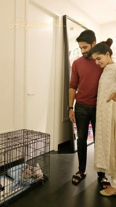 Samantha Akkineni and Naga Chaitanya welcomed a new member in their family. This year in the month of October, the Akkineni couple celebra. Samantha In Saree, Samantha Ruth, Couple Photoshoot Poses, Couple Posing, Simple Kurti Designs, Blouse Designs, Salwar Designs, Ninnu Kori Movie, Samantha Images