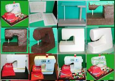 Ideas sewing machine cake structure for 2019 Sewing Machine Cake, Sewing Cake, Gravity Defying Cake, Gravity Cake, Cake Decorating Techniques, Cake Decorating Tutorials, Unique Cakes, Creative Cakes, Fondant Cakes