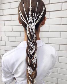 32 Beautiful Wedding Hairstyles – The Glossychic – Hair Accessories Diy 2020 Sleek Hairstyles, Wedding Hairstyles, Beautiful Hairstyles, Braided Hairstyles, Dance Hairstyles, Natural Hair Styles, Long Hair Styles, Wedding Hair Accessories, Hair Accessories For Women