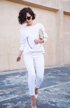 Clean white. Love Karla's Closet..