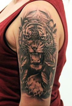 Tiger Tattoo Design #tattoos