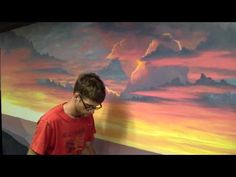 How To Paint A Sunset Cloud - YouTube