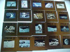 Apollo 15 NASA Moon Landing  vintage 70s slides 2x2 Lot of 20