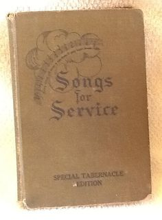 Vintage 1934 Songs for Service Special Tabernacle by BuyfromGroovy