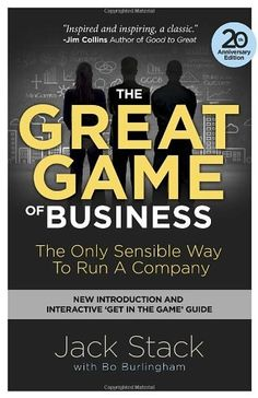 The Great Game of Business, Expanded and Updated: The Only Sensible Way to Run a Company by Jack Stack, http://www.amazon.ca/dp/0385348339/ref=cm_sw_r_pi_dp_.S0usb0PWWJB0