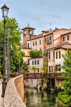 View of old houses Padua (Padova) Italy by Alberto Messina