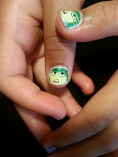 """Disgust"" Inside Out Movie Nail Art"