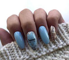 Light Blue Nails, Beauty, Beauty Illustration