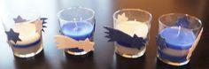 Vánoční dvoubarevné svíčky.