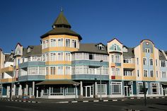 & building in Namibia's finest scene, swanky Swakopmund is a feast of architecture, with its seaside promenades, half-timbered homes and colonial-era buildings. Stuck out on the South Atlantic coast and surrounded by desert, it feels like a movie set Land Of The Brave, Namibia, Namib Desert, Art Nouveau Architecture, Paradise On Earth, Timber House, African Countries, Places Of Interest, Travel Planner