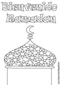 Islam Para Niños: Bienvenido Ramadan para colorear en (español, árabe, portugués, aleman y en ingles)