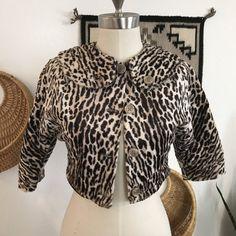 1960s - Vintag Leopard Jacket - Crop Jacket - Fun Fur - Leopard Print by mslonelyheartvintage on Etsy