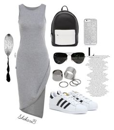 """Back To School"" by shikarib ❤ liked on Polyvore featuring adidas, PB 0110, Ray-Ban, Pieces, BackToSchool and school"