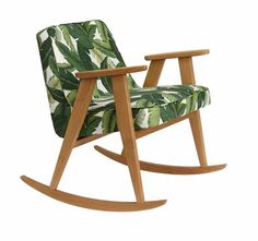 366 Rockin Chair - Deco collection | WhyUs Retro Furniture, Design Furniture, Mid Century Furniture, Wood Colors, Rocking Chair, Tweed, Armchair, Concept, Interior Design