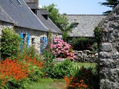 Beautiful stone villages in Brittany France