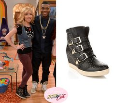 Sam Puckett (Jennette McCurdy) wears these Steve Madden Studded Buckle 'Jeckle' Boots in this episode of Sam & Cat, #PeezyB.  ** Check out my website for the full post www.allaboutsamandcat.com