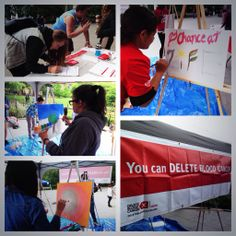 First World Blood Cancer Day! Thanks to everyone who came out and shared their artwork