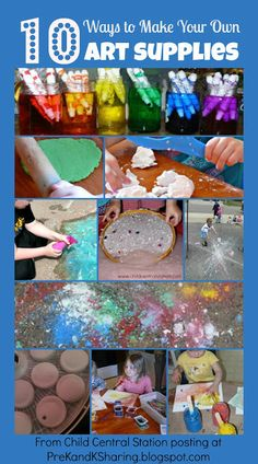 10 Ways to Make Your Own Art Supplies!  - Pinned by @PediaStaff – Please Visit ht.ly/63sNtfor all our pediatric therapy pins