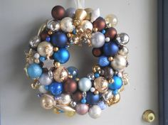 SALE22 inch Ornament wreathbrownsturquoisesilver and by sunnydayz5, $55.00