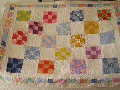 Four patch baby quilt