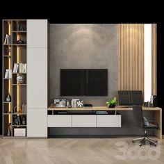Living Room Modern, Home Living Room, Living Room Decor, Modern Tv Room, Bedroom Tv Wall, Tv Unit For Bedroom, Bedroom Tv Cabinet, Bedroom Tv Unit Design, Tv Wall Cabinets