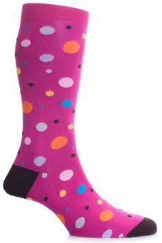 29 iconically British socks for the summer by Pantherella | vanitysocks.com #Pantherella Cotton Lisle Orleans Multi #Spot Socks #Pink