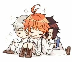 """Page 2 Read """"La desición de Emma"""" (NormanXEmmaXRay) from the story Juntos Para Siempre- (Norman x Emma x Ray)//The Promised Neverland! Anime Chibi, Fanarts Anime, Anime Kawaii, Kawaii Icons, Otaku Anime, Anime Art, Anime Lindo, Cute Chibi, Animes Wallpapers"""