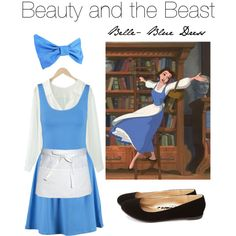 Belle's opening blue dress from Beauty and the Beast.