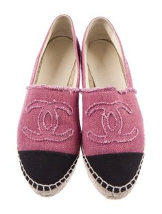 Chanel Interlocking CC Logo Whipstitch Trim Espadrilles - Shoes - CHA521367 | The RealReal Chanel Espadrilles, Chanel Shoes, Heritage Brands, Shoe Closet, Espadrille Shoes, Luxury Consignment, Logo, Women, Style