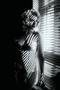 Rice, Tigz - Woman Behind Venetian Blinds, Night