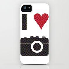 I ♥ Cameras  - halftone iPhone & iPod Case