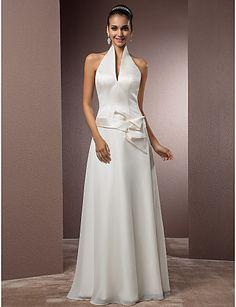 Lanting Bride® Funda / Columna Tallas pequeñas / Tallas Grandes Vestido de Boda - Moderno y ChicInspiración Vintage / Espalda Abierta / 467007 2017 – €107.79