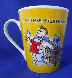 Flirt by R&B Ich Habe Spass Im Buro I Have Fun In The Office Coffee Mug Cup #FlirtbyRB