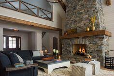 This Minnesota lake house combines rustic charm with coastal elegance