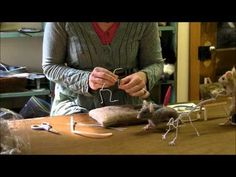 How To Needle Felt - Mouse Series 1: Armature by Sarafina Fiber Art - YouTube