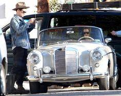 Katy Perry and John Mayer cruise around Santa Barbara in a vintage Mercedes-Benz Ponton convertible