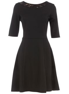 Black lace collar ponte dress $39.00 - That's all me...if only it weren't so high neck.