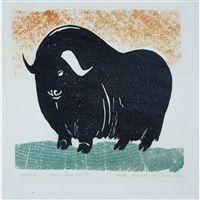Inuit Kunst, Inuit Art, Musk Ox, Hudson Bay, Drawing Practice, Craft Shop, Art Auction, Art Google, Graphic Illustration
