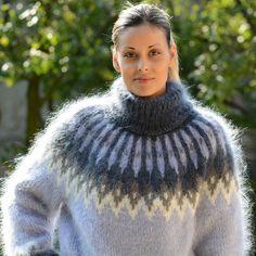 Bestellen Sie Hand Mohair Pullover isländische norwegische